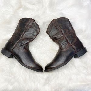 Ariat Heritage Western Brown Leather Boots 9.5